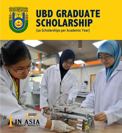 Fully-funded Graduate Scholarship for Scholars and Professionals in the Universiti Brunei Darussalam Graduate Scholarship Program 2020