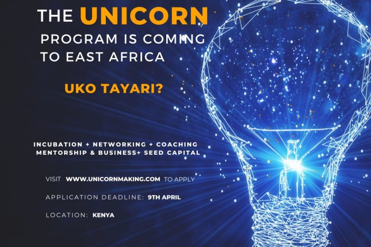 Call for Applications for Innovators in the Unicorn Incubation programme East Africa 2021
